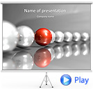 Red Sphere Animated PowerPoint Templates
