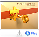 Key to Puzzle Animated PowerPoint Template