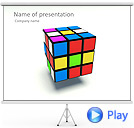 Rubiks Cube Animated PowerPoint Template