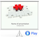 Missing Red Puzzle Animated PowerPoint Template