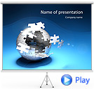 Globe Puzzle Animated PowerPoint Templates