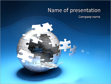 Globe Puzzle Animated Powerpoint Template
