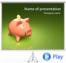 Piggy Bank Animated PowerPoint Template