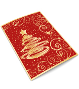 Red Tree Christmas Cards