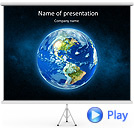 World Globe Animated PowerPoint Template