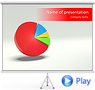 3D Pie Graph Animated PowerPoint Template