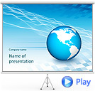 3D Earth Globe Animated PowerPoint Templates