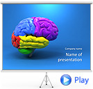 Human Brain Animated PPT Sjablonen