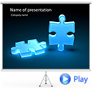 Puzzle in Pieces Animated PowerPoint Template