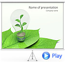 Green Idea Animated PowerPoint Template