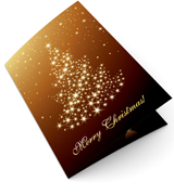 Fir Tree Lights Christmas Card