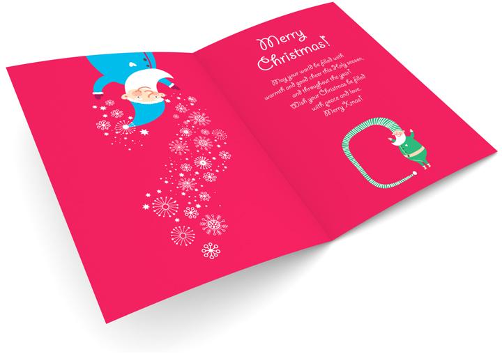 Funny Elfs Christmas Card