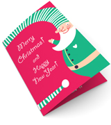 Funny Elfs Christmas Card