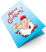 Feliz de Santa Claus Tarjetas de Navidad