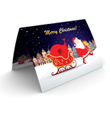Santa Clause at Work Christmas Cards