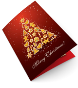 Candy Fir Tree Christmas Cards