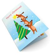 Dancing Deers Christmas Card