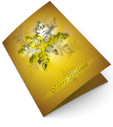 Gold Snowflake Christmas Cards