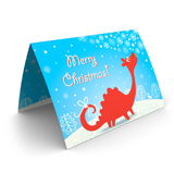 Red Dragon Christmas Card