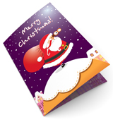 Santa Claus with Presents Christmas Card