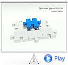 Missing Blue Puzzle Animated PowerPoint Templates