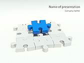 Missing Blue Puzzle Animated PowerPoint Template - Slide 1