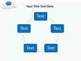 Missing Blue Puzzle Animated PowerPoint Template - Slide 13