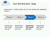 Missing Blue Puzzle Animated PowerPoint Template - Slide 3