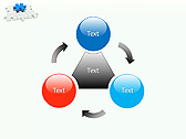 Missing Blue Puzzle Animated PowerPoint Template - Slide 5