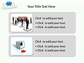 Missing Blue Puzzle Animated PowerPoint Template - Slide 9