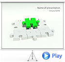Missing Green Puzzle Animated PowerPoint Template