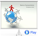 Worldwide Friendship Animated PowerPoint Templates