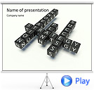 Business Crossword Animated PowerPoint Template