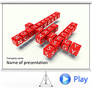 Red Business Crossword Animated PowerPoint Template