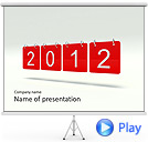 Red 2012 Calendar Animated PowerPoint Template