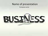Business Word Animated PowerPoint Template - Slide 1