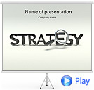 Strategy Word Animated PowerPoint Template