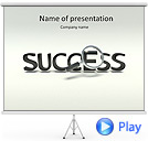 Success Word Animated PowerPoint Template