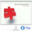 Red Puzzle Piece Animated PowerPoint Template