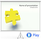 Yellow Puzzle Piece Animated PowerPoint Template