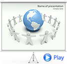 Global Communication Animated PowerPoint Template