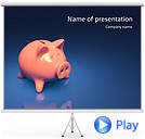 Piggy Bank and Coin Animated PowerPoint Template