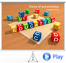 Creative Education Animated PPT Sjablonen