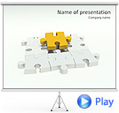 Missing Yellow Puzzle Animated PowerPoint Template
