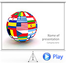 All Over the World Animated PowerPoint Template