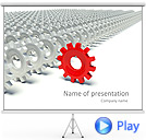 Red Top Gear Animated PowerPoint Template