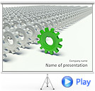 Green Wheel Animated PowerPoint Template