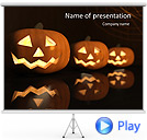 Halloween Pumpkin Animated PowerPoint Templates