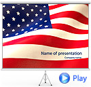 American Flag Animated PowerPoint Template
