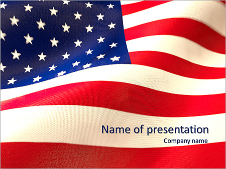 American Flag Animated PowerPoint Template & Design ID 0000003123 ...